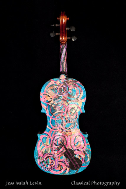 Painted Violin by Kathryn DeMarco