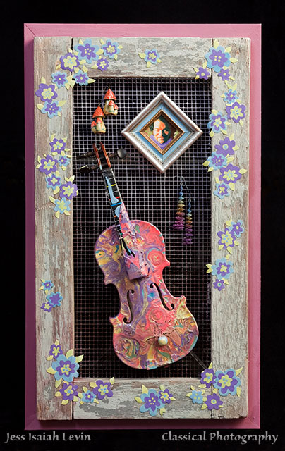 Painted Violin by Emily Weinstein