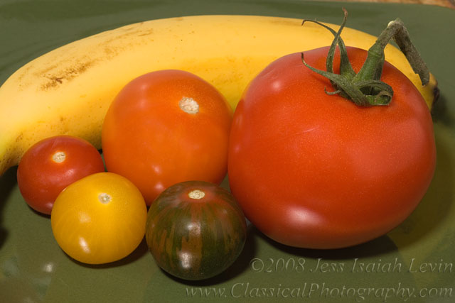 tomatoes and banana